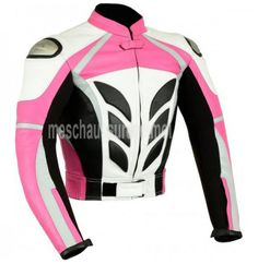 Blouson moto cuir rose femme