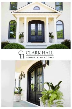 Custom iron front entry doors transform the design of any entrance. Don't worry about losing your single door's side lights. With large glass windows to let in all the natural light, these custom made traditional double doors take your exterior french door ideas to the next level. Custom Exterior Doors, Double Doors Exterior, Entrance Ideas, House Entrance, Door Ideas, Traditional Front Doors, Traditional Styles, Double Front Entry Doors, Door Design