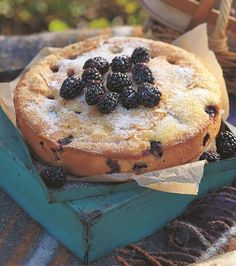 Blackberry Cake by former GBBO winner Mirander Gore Browne. This cake is a great way to use up blackberries in the Autumn. Serve with a nice cup of tea.