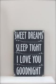 Sweet Dreams Sign Chalkboard Sign Nursery Sign by InMind4U