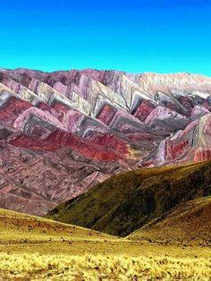 Argentina. Jujuy. Cerro de los Catorce colores