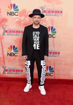 Boy George. See what Taylor Swift, Iggy Azalea, and more wore at the iHeartRadio Music Awards. (Cutouts! Zebra print!)