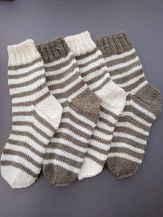 Striped pure Alpaca Kids and Toddler Knit Socks Knitting For Kids a2ab30efb9