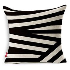 Kingla Home Cotton Linen Decorative Throw Pillows Covers for Sofa 18 X 18 Inch Zippered Cushion Covers Geometric Patterns Pillowcases >>> You can find out more details at the link of the image. (This is an Amazon Affiliate link and I receive a commission for the sales)