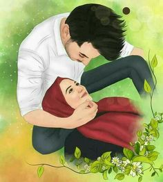Halal couple pin muslim couples animated ❤ in 201 Love Cartoon Couple, Cute Couple Art, Girly Drawings, Couple Drawings, Cute Muslim Couples, Romantic Couples, Muslim Couple Photography, Cute Love Images, Islam Marriage
