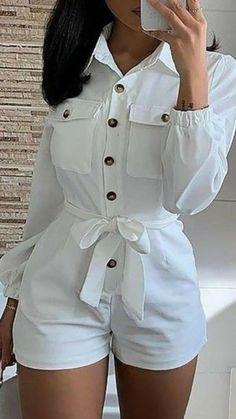 Trend Fashion, Teen Fashion Outfits, Girl Outfits, Womens Fashion, Style Fashion, White Fashion, Gothic Fashion, Cute Casual Outfits, Stylish Outfits