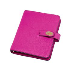 Mulberry - Postman's Lock Agenda in Mulberry Pink Glossy Goat