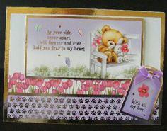 DL Teddy card and tag