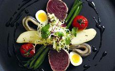 Peppered Tuna with Nicoise Salad Recipe by Jun Tanaka : Food Network UK