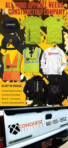 Do you or anyone you know have a construction company that needs custom apparel? Fabtex is here to help! We even do car decals! #customapparel #construction #fabtex #goodmorning
