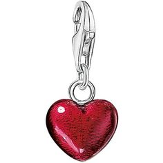 Thomas Sabo Charm Club Small Red Heart Charm (2.480 RUB) ❤ liked on Polyvore featuring jewelry, pendants, lobster claw clasp charms, thomas sabo charms, red jewelry, thomas sabo jewelry and thomas sabo