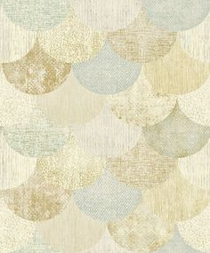 The Paper Partnership Paxhill Aqua / Gold Wallpaper main image