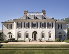 Ferguson & Shamamian Architects- Chagrin Falls, OH Architecture Design, Classic Architecture, Beautiful Architecture, Sustainable Architecture, Villa, Country Estate, White Houses, Classic House, Traditional House