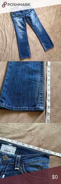 Big Star Size 27 Liv Women's Jeans This listing is for a pair of Big Star jeans.  They are the Liv style.  Jeans are a size 27.  Please see pictures for the inseam and waist measurements.   Back pockets have a cut design.  Stitching is in good condition.  All zippers and buttons are attached and work.  No holes or tears.  Smoke free home. Please see pictures for details/measurements. Feel free to ask any questions!  Offers welcome.  Bundles of 2+ items and/or purchases of $20+ before…