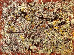Pollock, Jackson - 1950 Mural on Indian Red Ground   by RasMarley