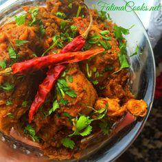 Bhuna Chicken Masala - Seared Chicken Curry recipe @ fatimacooks.net #chicken #curry #spicy