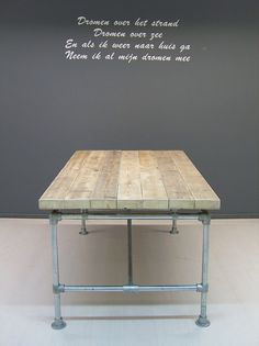 Tafel dikke steigerplanken zwevend, steigerbuis onderstel (2092013)