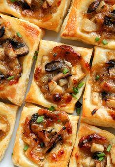 Sgt. Pepper's Kitchen: Caramelized Onion, Mushroom, Apple & Gruyere Bites