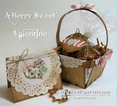 Berry Sweet Valentine Basket at WildWestPaperArts.com
