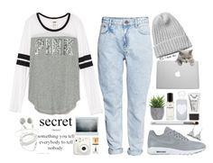 """""""How it feels to work like a devil and look like an angel?"""" by escap3-from-reality ❤ liked on Polyvore featuring Clinique, NIKE, H&M, bkr, Stila, Chanel, Lux-Art Silks, Monki and Yves Saint Laurent"""