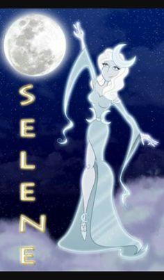 Selene greek goddess of the moon,sister to helios
