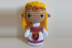 Hi hi! This Zelda pattern is based on Ocarina of Time and it is very similar to theLinkI made before. Materials: – Cream, yellow, white and pink yarn (I used 100% cotton yarn Barroco by Circulo,…