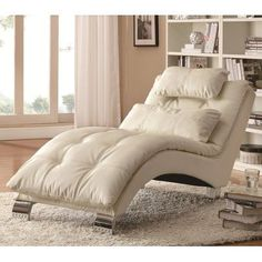 Contemporary and comfortable, this Coaster Furniture Carlsbad Chaise Lounge makes a designer statement and maximizes relaxation. This chaise lounge. Chaise Lounges, Tufted Chaise Lounge, Lounge Chairs, Sofa Bed, Lounge Couch, Comfy Chair, Reading Chairs, Lounge Cushions, Office Chairs