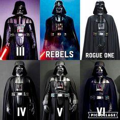 Darth Vader's armour evolution