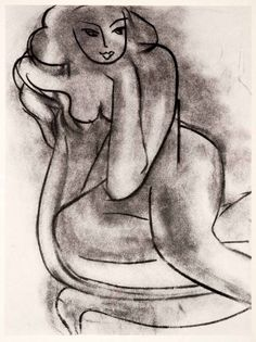 1969 Matisse charcoal