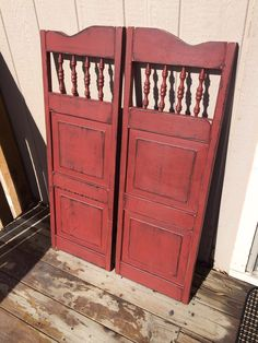 Red saloon doors