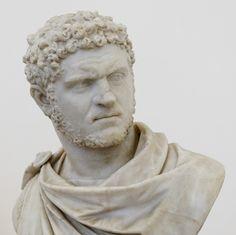 Busto del emperador Caracalla. El arte romano: el realismo que recalca la fuerza de una mirada.