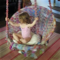 my granddaughter loves spinning in her swing · ashannigan · Mashable Photo Challenge: Action Shot