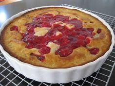 Crazy Crust Pie Ingredients: 1 C. flour 1/4 C. sugar 1 tsp. baking powder 1/2 tsp. salt 1/2 C. butter or margarine softened 3/4 C. milk 1 egg 1- can fruit pie filling (apple,  boysenberry etc.)