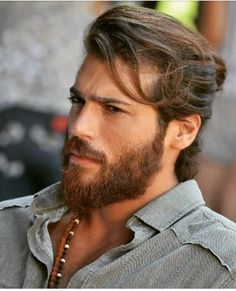 Can Yaman - Can Yaman Turkish Actors With Long Hair Hair, Beard, Can Yaman Beard Styles For Men, Hair And Beard Styles, Long Hair Styles, Turkish Men, Turkish Actors, Man Bun Hairstyles, Hot Beards, Hot Actors, Male Beauty