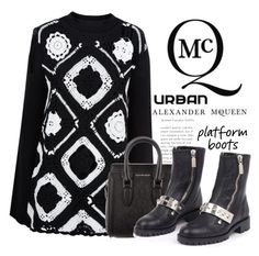 """""""Urban Style Platform Boots. ... Featuring: Alexander McQueen"""" by conch-lady ❤ liked on Polyvore featuring McQ by Alexander McQueen, Alexander McQueen, AlexanderMcQueen, PlatformBoots and urbanstyleplatformboots"""