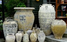 Extra Large Outdoor Planters | large glazed pots planters atlantis pots old stone and ironstone pots