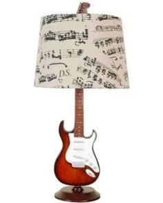 This electrical guitar shaped table lamp with music bar shade. Display your passion for music everyday! Great for guitar lover gift or office/home use. Creative Motions Guitar Desk Lamp (Lamp Only) Brown Plywood Furniture, Furniture Design, Painted Furniture, Music Furniture, Modular Furniture, Furniture Logo, Urban Furniture, Street Furniture, Deco Furniture