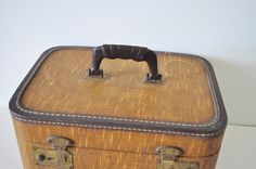 Tweed Train Case by thewhitepepper on Etsy, $26.50