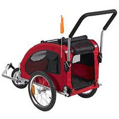 @Overstock - Take your dog along on your next bicycle ride with this easy-to-attach dog bike trailer. The cover has mesh windows and a transparent front, so your furry friend can enjoy the view while you're out and about.http://www.overstock.com/Pet-Supplies/Merske-Medium-Red-Comfy-Dog-Bike-Trailer-Stroller-Kit/6644174/product.html?CID=214117 $169.99
