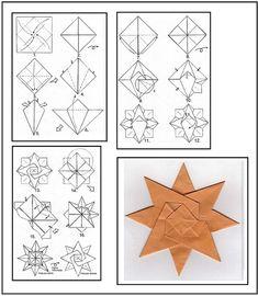 Origami Single Sheet Star