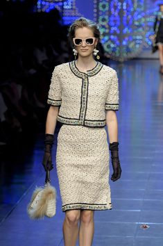 Dolce & Gabbana Spring 2012 Black Sheer Gloves in Black - Lyst