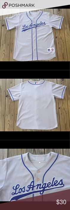 Vintage Russell Athletic LA Dodgers MLB jersey In excellent condition from a smoke and pet free home Russell Athletic Other