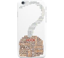 Captain Hook Once Upon A Time Typography iPhone Case/Skin