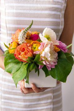 DIY Bridal Shower | Orange and Coral Florals