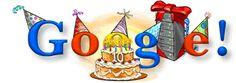 Google's 10th Birthday – September 27, 2008