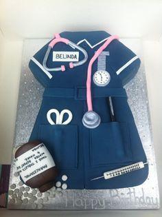 Nurses uniform cake