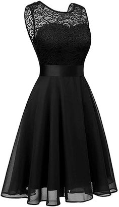 BeryLove Women's Short Floral Lace Bridesmaid Dress A-line Swing Party Dress Pretty Prom Dresses, Lace Bridesmaid Dresses, Pretty Outfits, Homecoming Dresses, Nice Dresses, Short Dresses, Girls Dresses, Girls Fashion Clothes, Teen Fashion Outfits