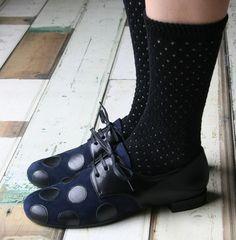 Chie Mihara :: polka dot oxfords (spotted via Bliss Blog)