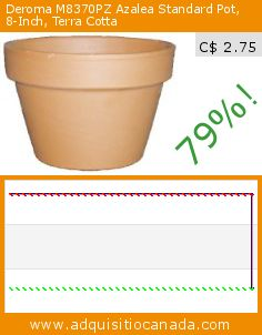 Deroma M8370PZ Azalea Standard Pot, 8-Inch, Terra Cotta (Lawn & Patio). Drop 79%! Current price C$ 2.75, the previous price was C$ 13.39. http://www.adquisitiocanada.com/deroma/m8370pz-azalea-standard