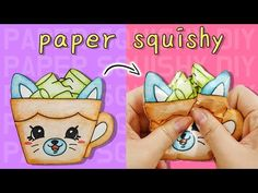 Making Squishy Without Sponge - crafts Youtube How To Make, How To Make Diy, How To Make Paper, How To Make Squishies, Homemade Squishies, Crafts For Teens, Diy For Kids, Quick Crafts, Diy Crafts